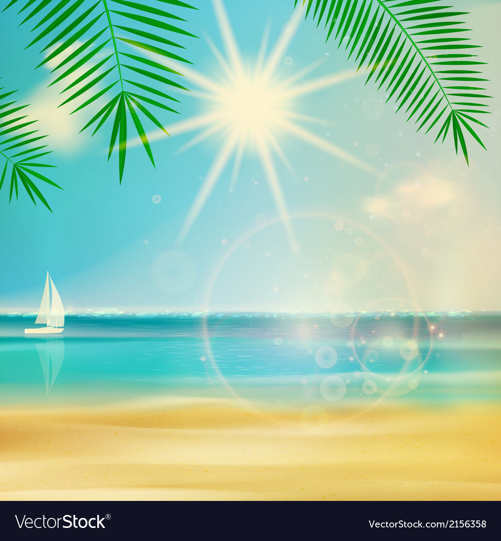Vintage summer beach design vector | Price: 1 Credit (USD $1)