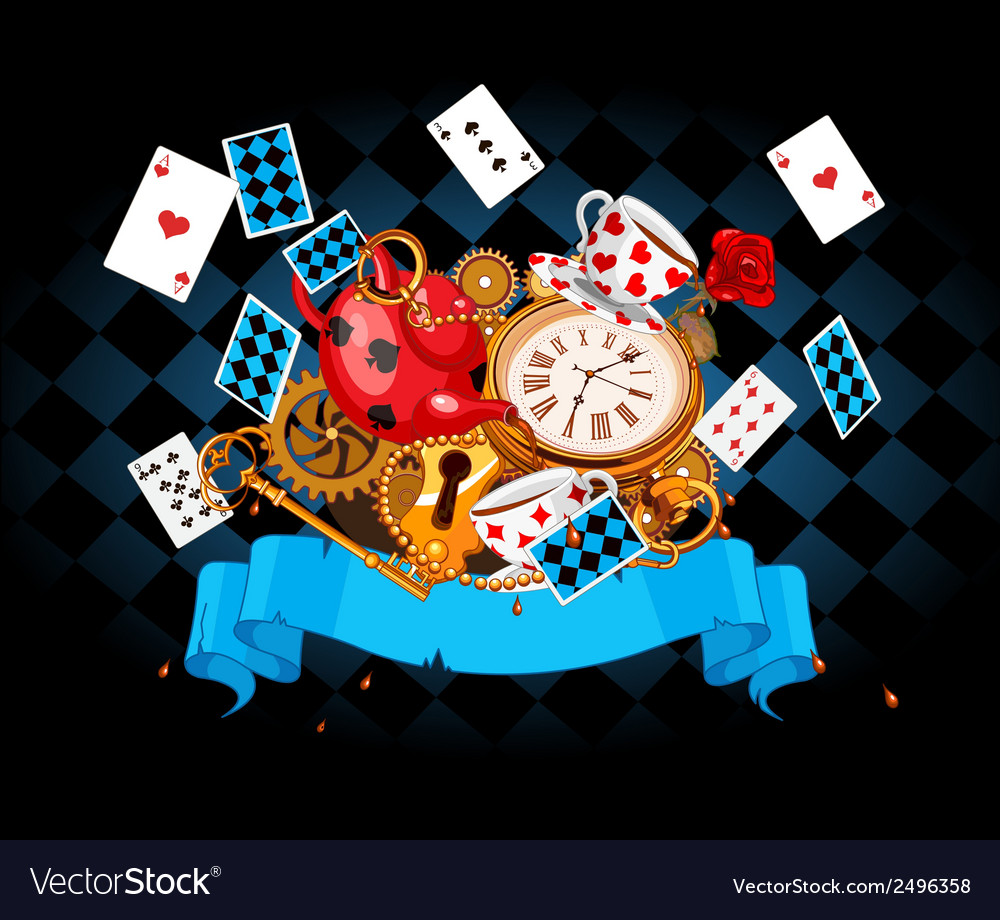 Wonderland mad design vector