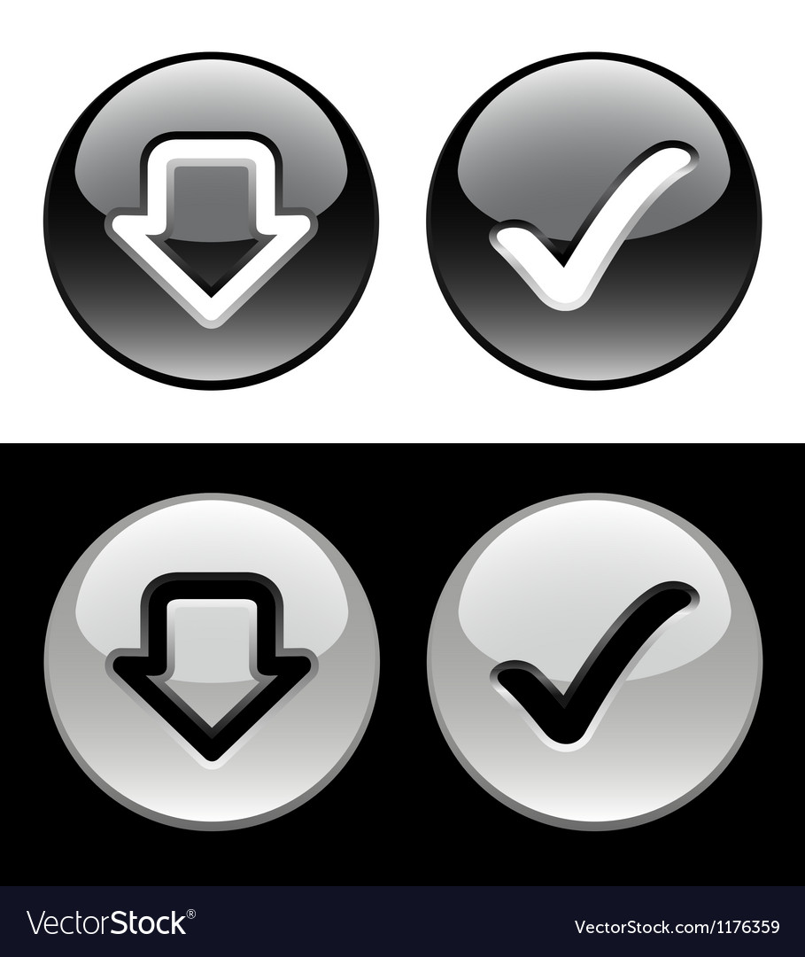 Black and white buttons vector | Price: 1 Credit (USD $1)