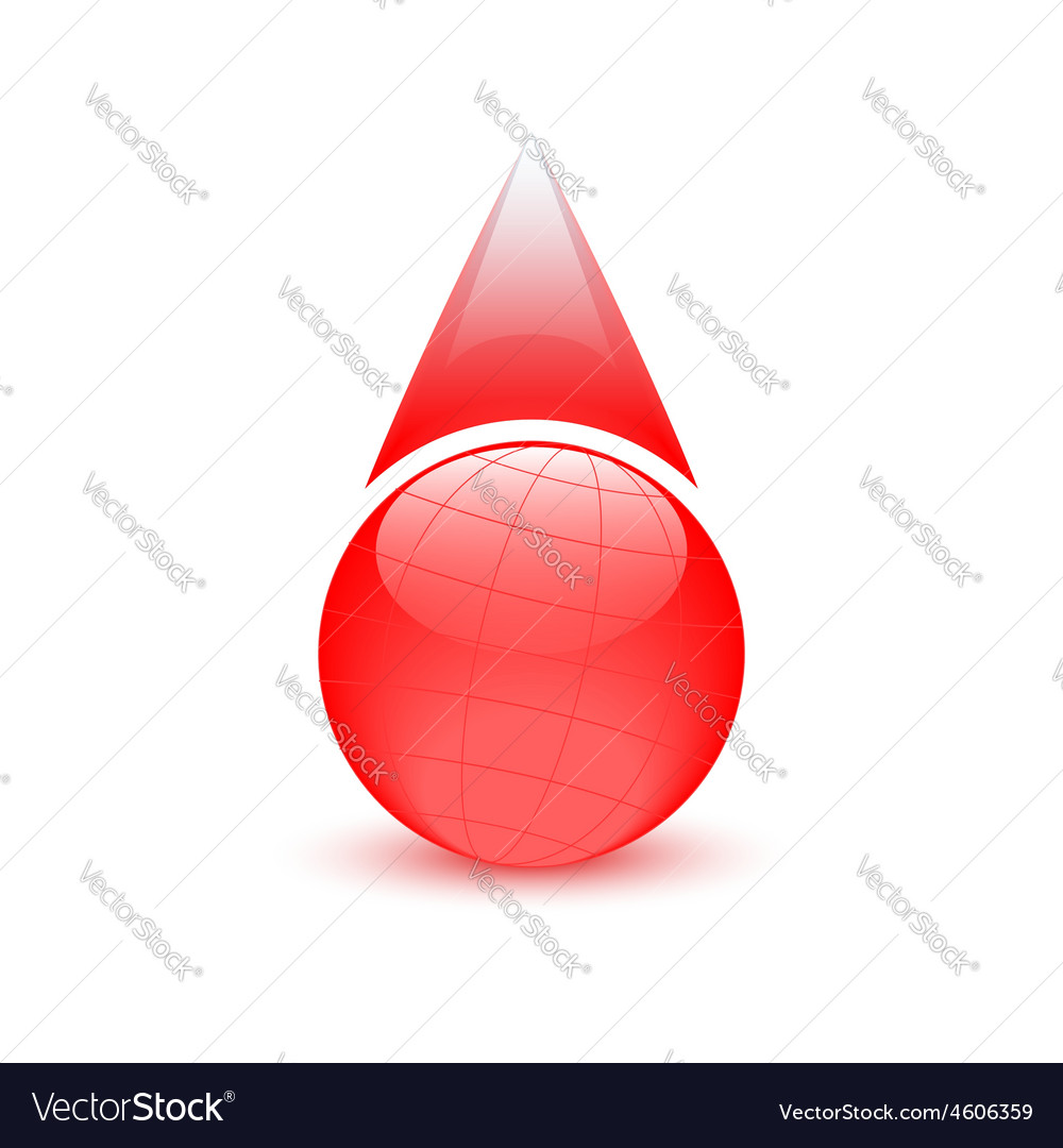 Blood drop globe sign donor day vector | Price: 1 Credit (USD $1)