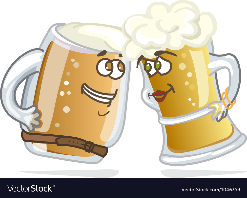 Cartoon hero beer tankard vector | Price: 1 Credit (USD $1)