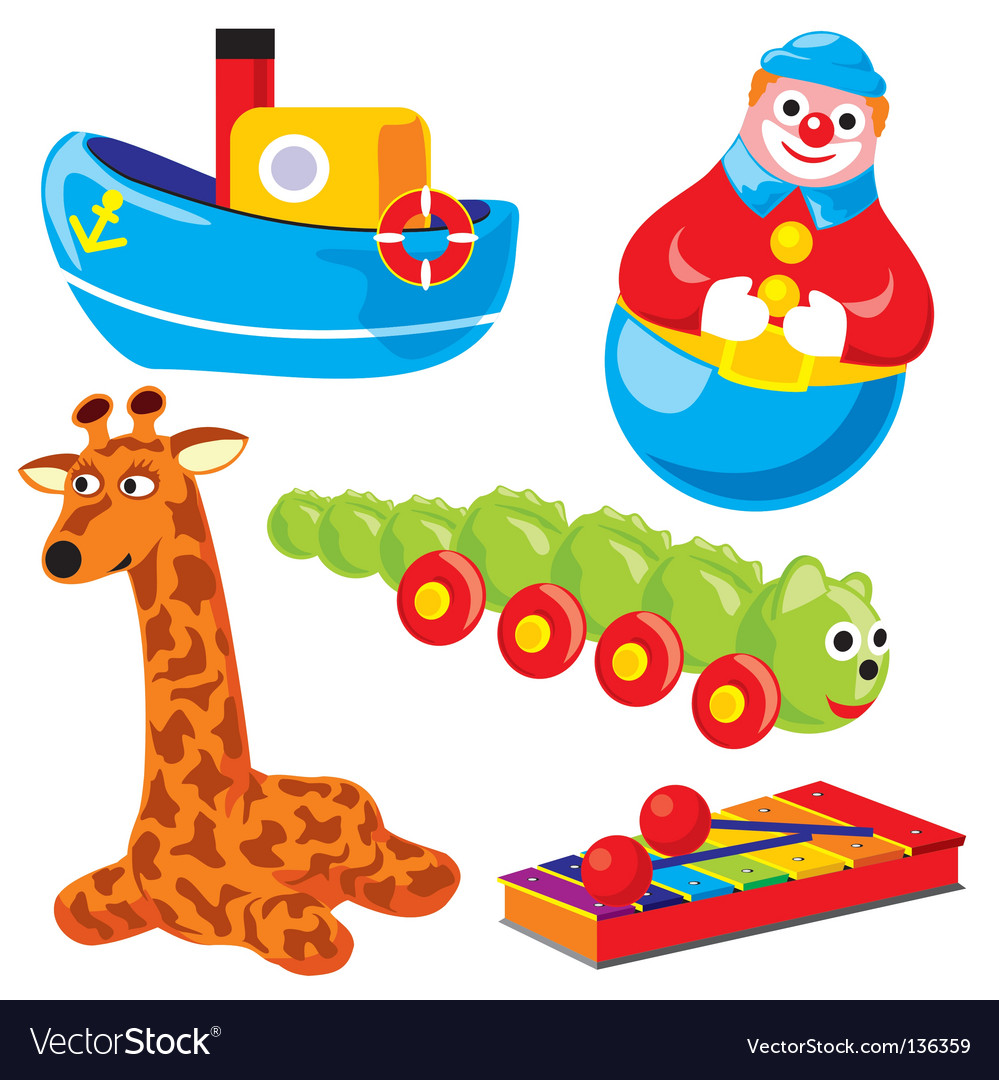 Children's toys vector | Price: 3 Credit (USD $3)
