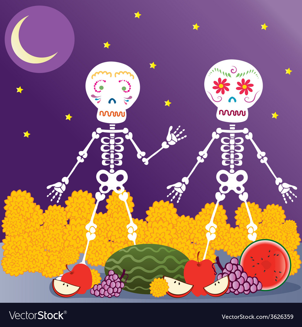 Day of the dead in the nigth vector | Price: 1 Credit (USD $1)