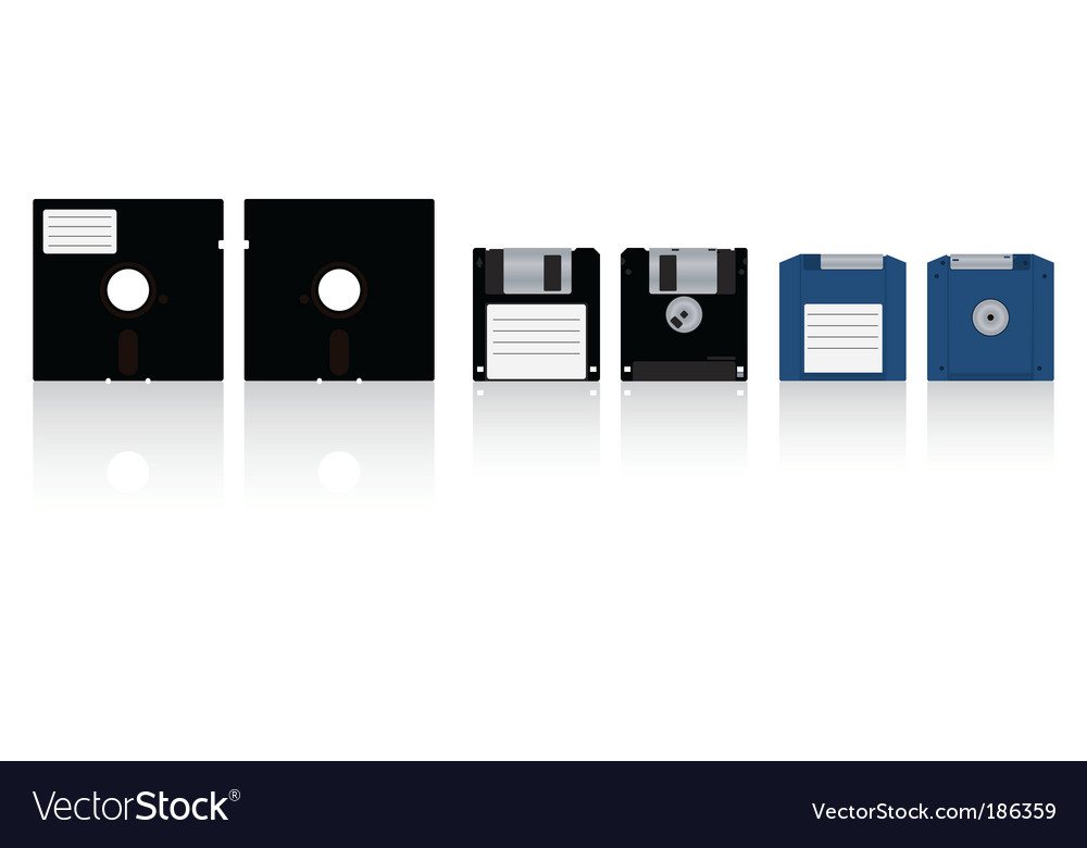 Diskettes vector | Price: 1 Credit (USD $1)