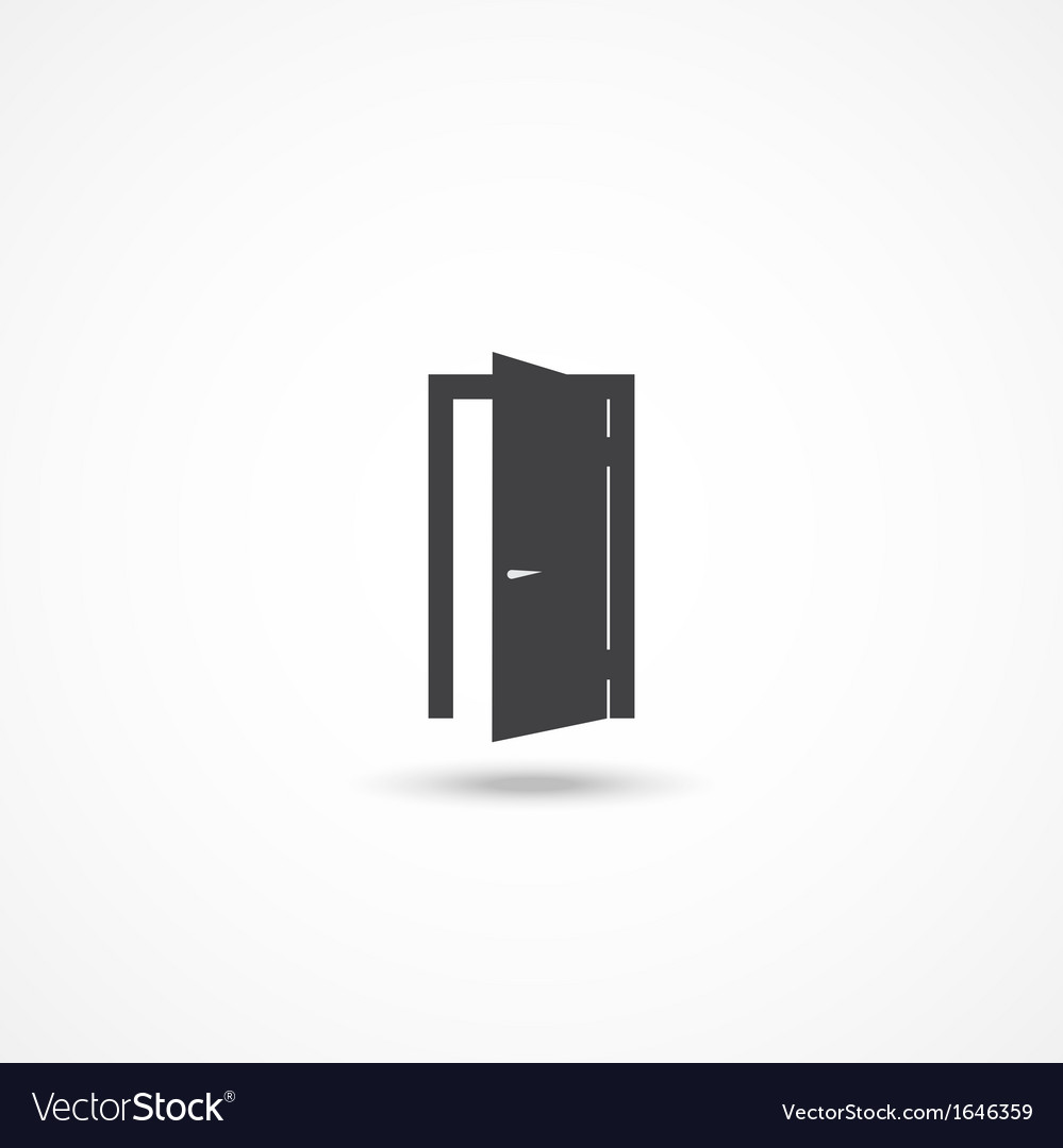 Door icon vector | Price: 1 Credit (USD $1)