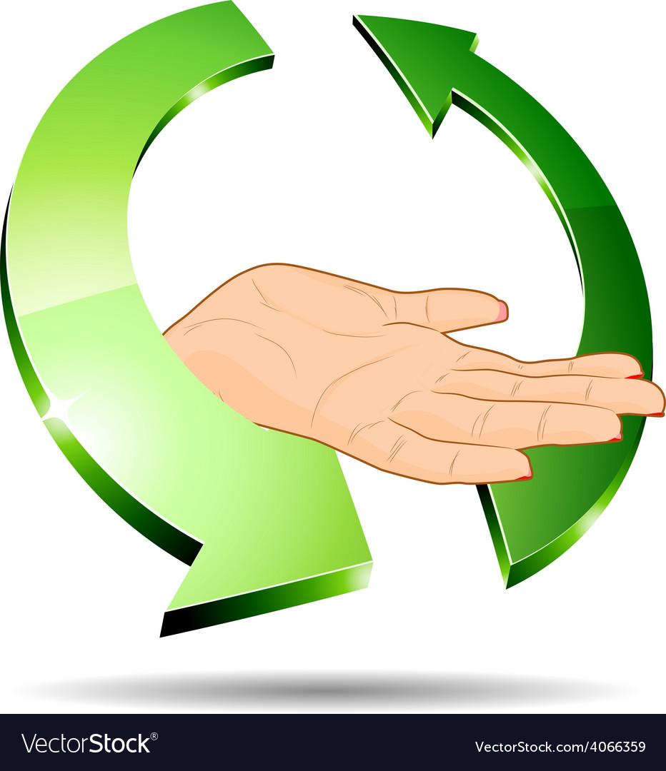 Eco hand vector | Price: 1 Credit (USD $1)