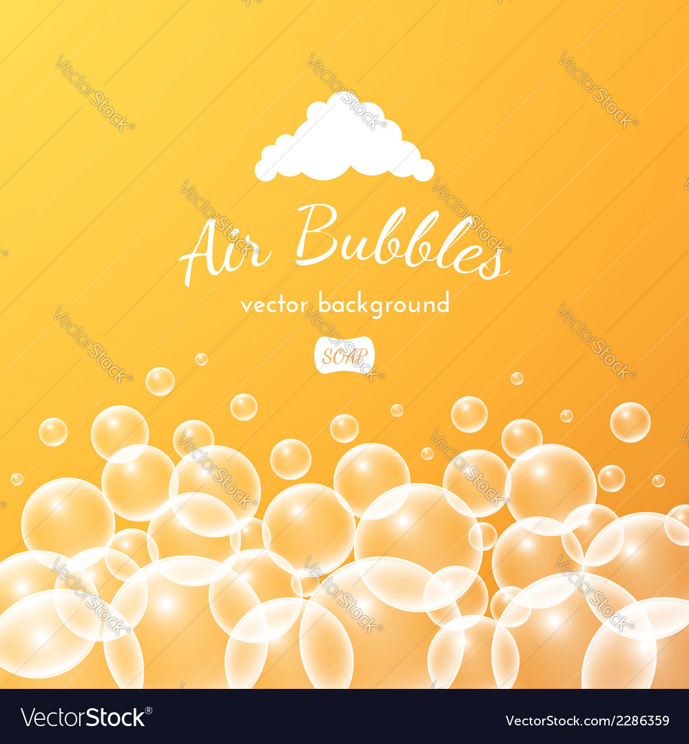 Floating bubbles beautiful background vector | Price: 1 Credit (USD $1)