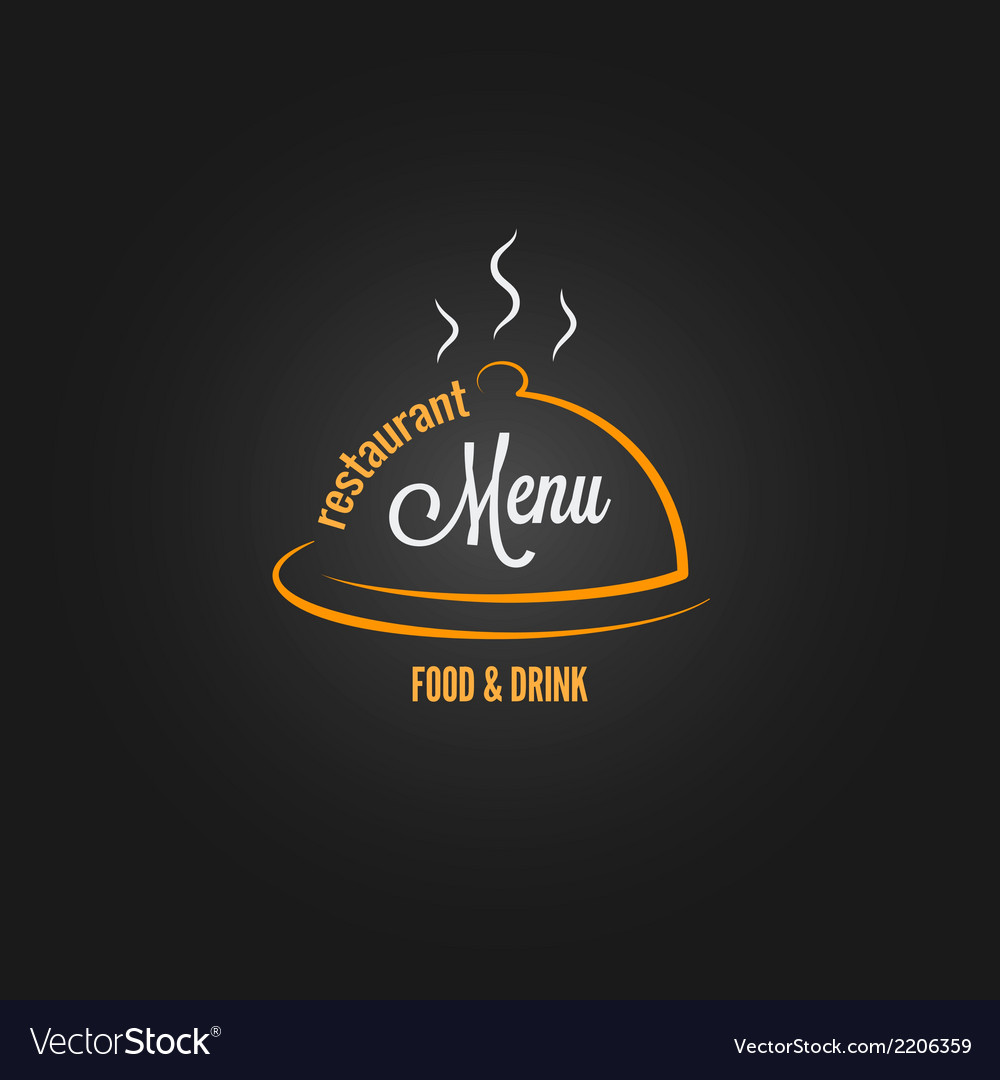 Food and drink menu design background vector | Price: 1 Credit (USD $1)