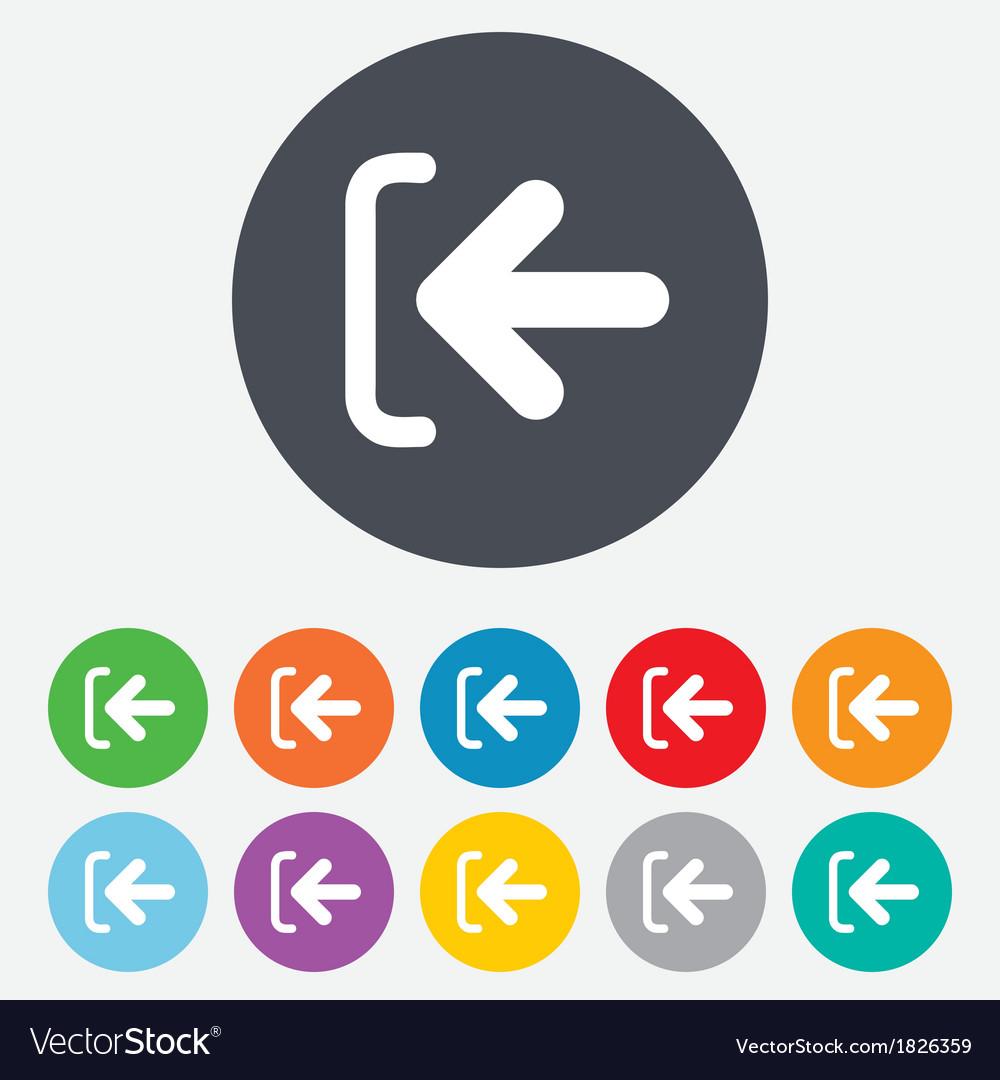 Login sign icon sign in symbol arrow vector | Price: 1 Credit (USD $1)