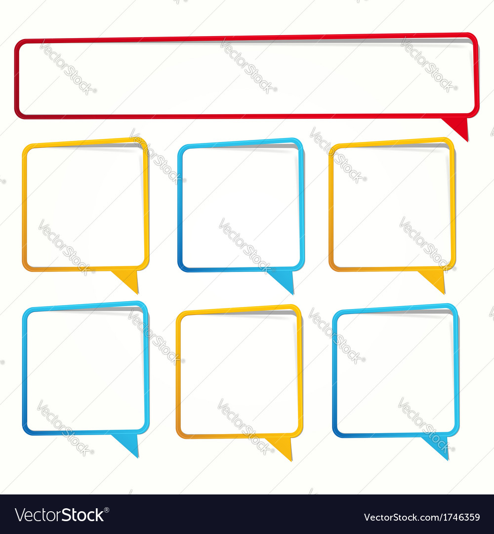Long and square sticker in the form of an empty vector | Price: 1 Credit (USD $1)