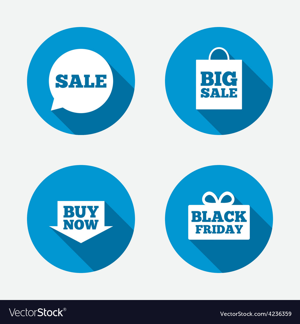 Sale speech bubble icons buy now arrow symbol vector | Price: 1 Credit (USD $1)