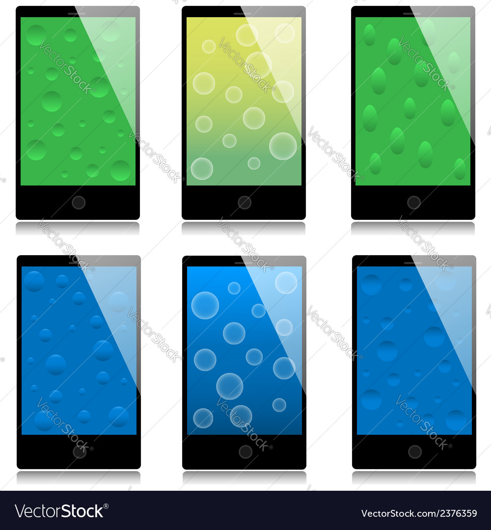 Set of touchscreen smartphones vector | Price: 1 Credit (USD $1)