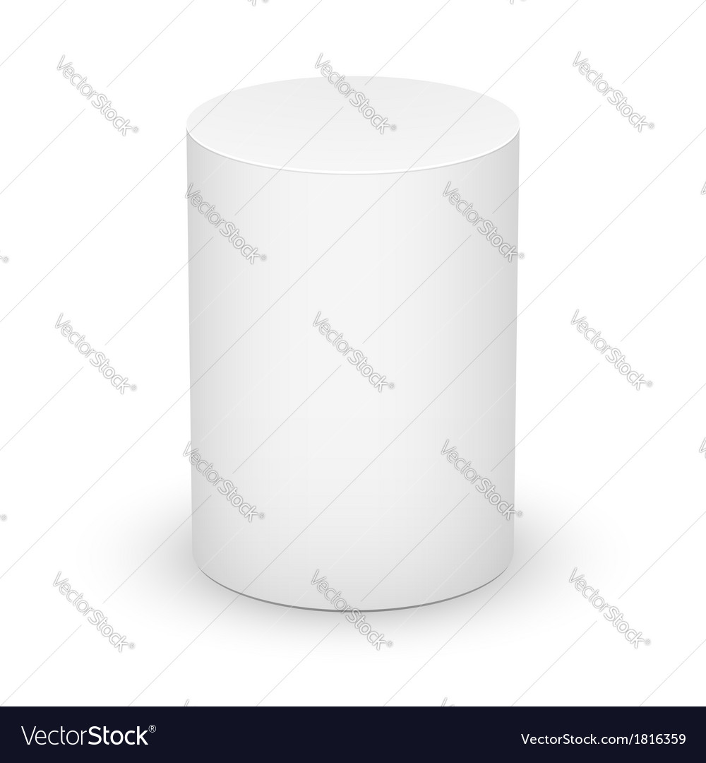 White cylinder on white background vector | Price: 1 Credit (USD $1)