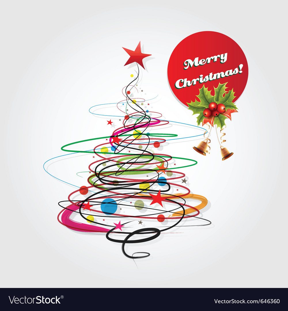 Abstract christmas celebration card vector | Price: 1 Credit (USD $1)
