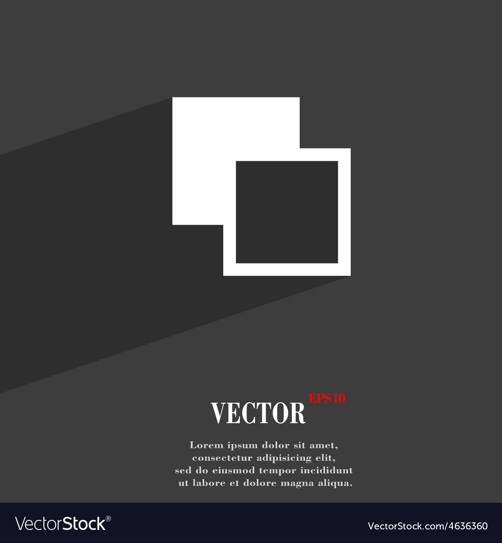 Active color toolbar icon symbol flat modern web vector | Price: 1 Credit (USD $1)