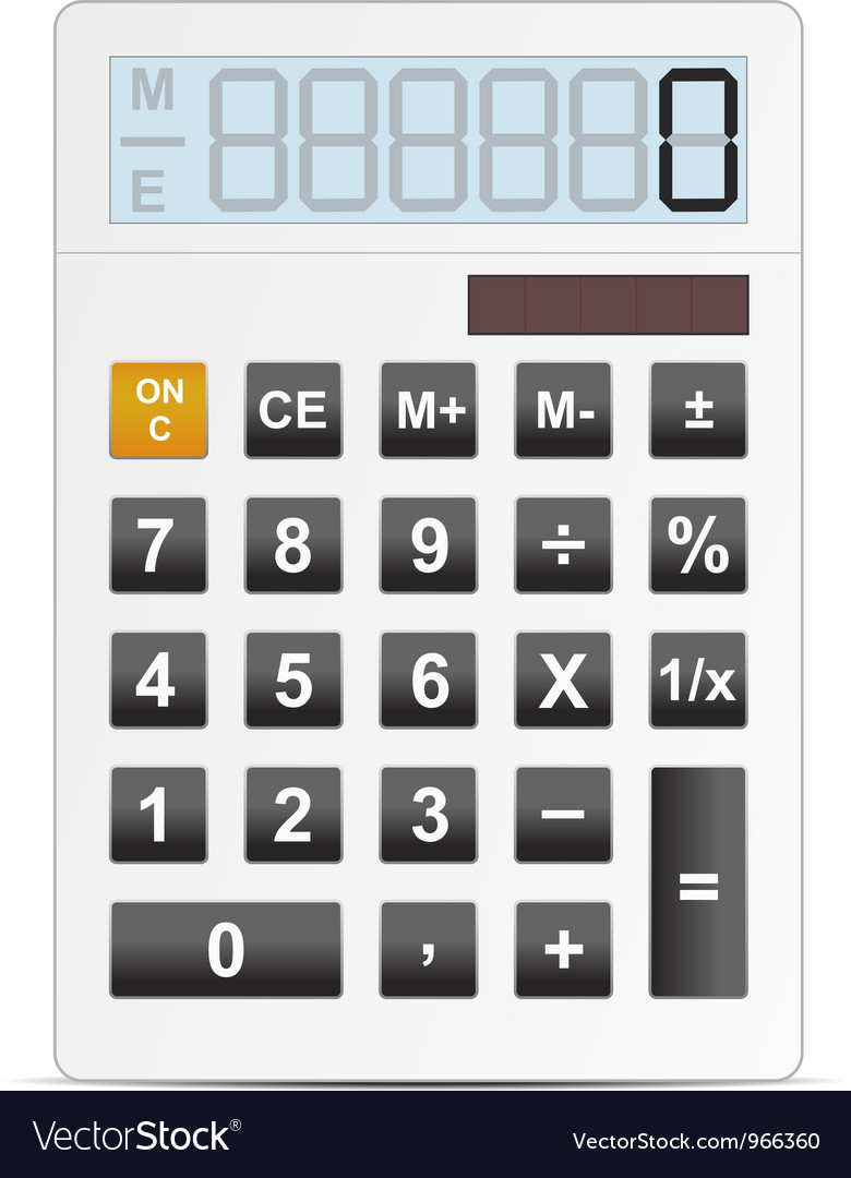 Calc white vector | Price: 1 Credit (USD $1)