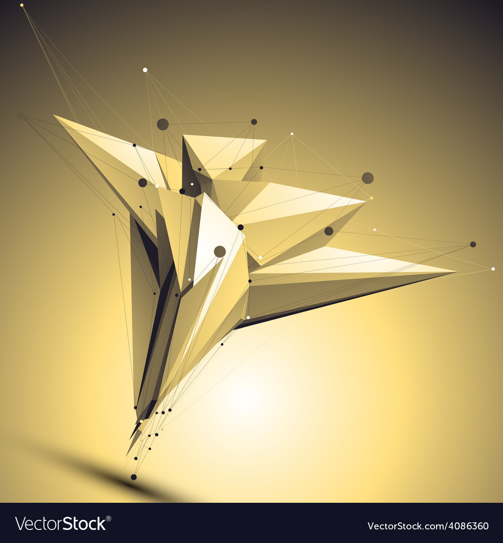 Complicated abstract gold 3d digital eps8 l vector | Price: 1 Credit (USD $1)
