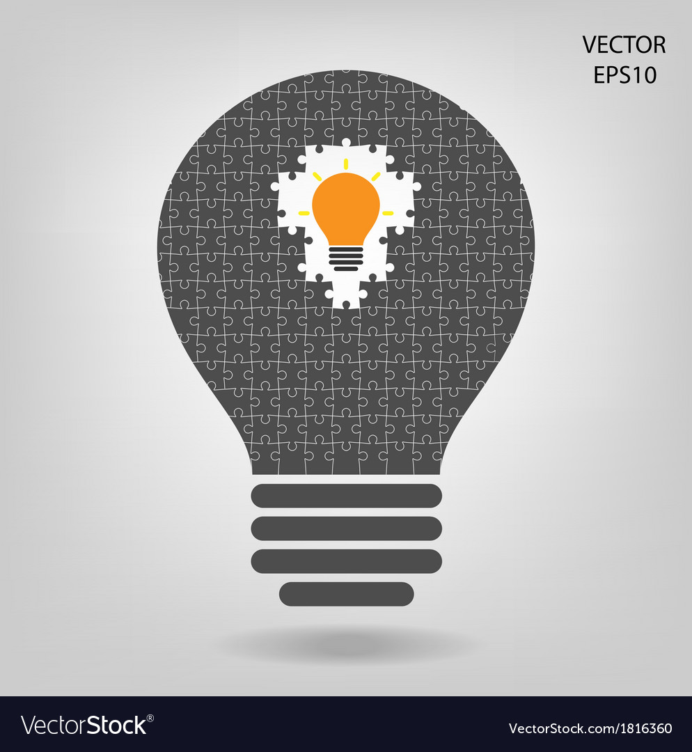 Creative light bulb vector | Price: 1 Credit (USD $1)