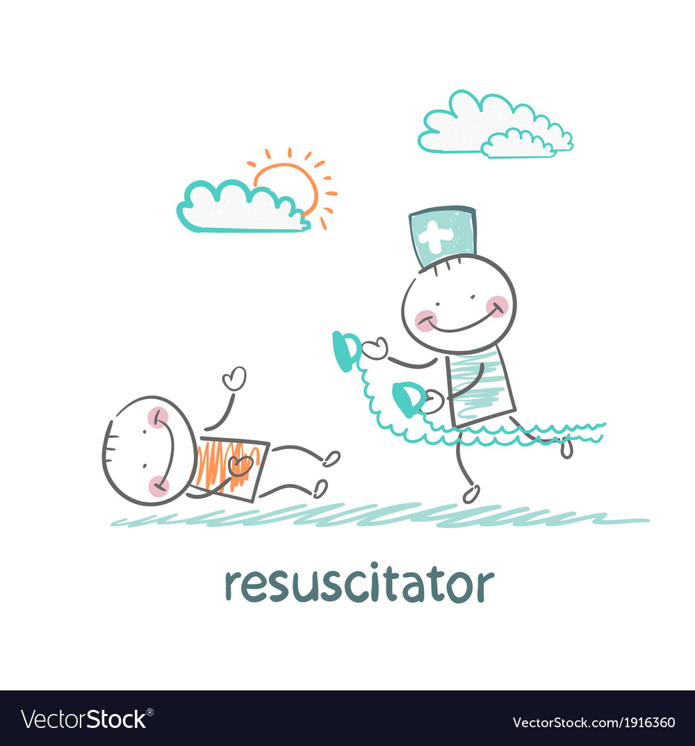 Resuscitation in a hurry to sick patient vector   Price: 1 Credit (USD $1)