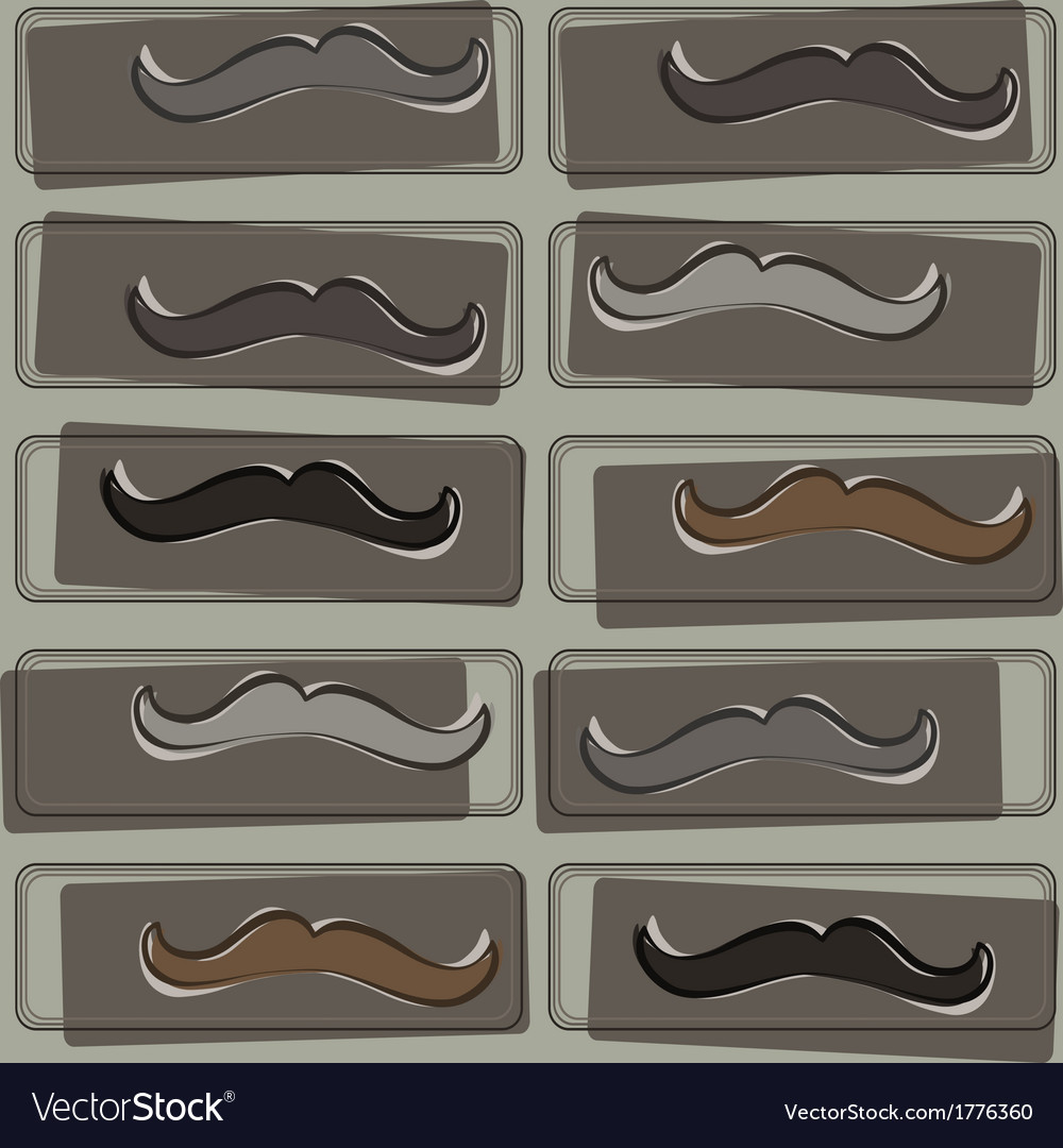Seamless pattern with hipster mustache vector | Price: 1 Credit (USD $1)