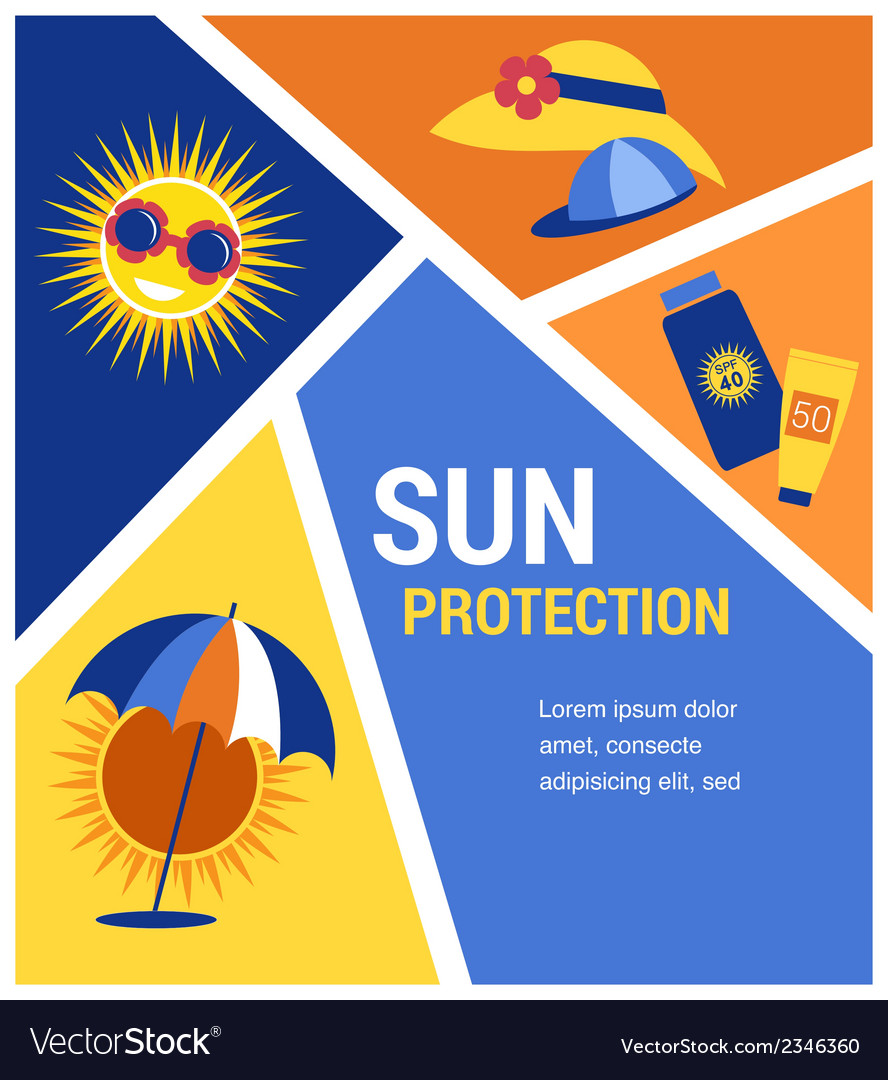 Sun protection vector | Price: 1 Credit (USD $1)
