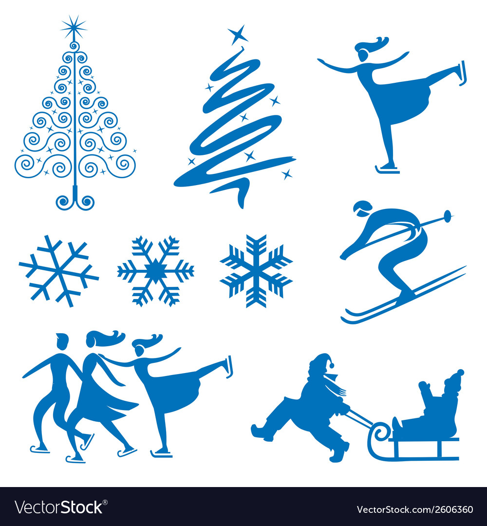 Winter christmas design elements vector | Price: 1 Credit (USD $1)