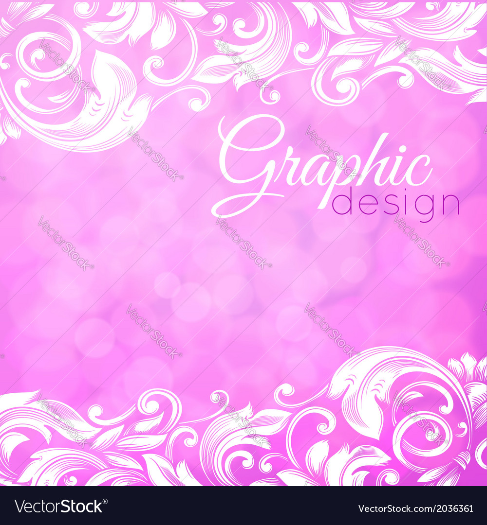 Abstract pink background with swirls vector | Price: 1 Credit (USD $1)