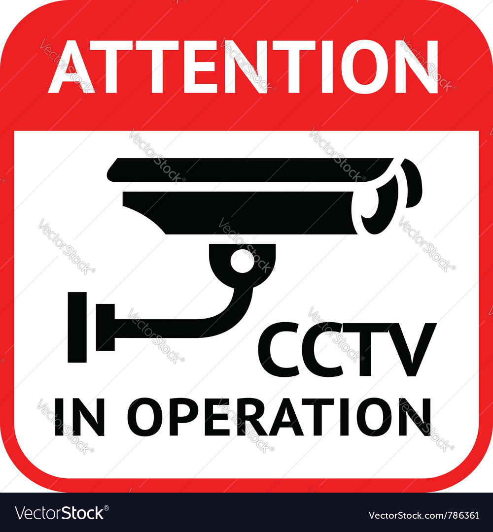 Cctv symbol vector | Price: 1 Credit (USD $1)