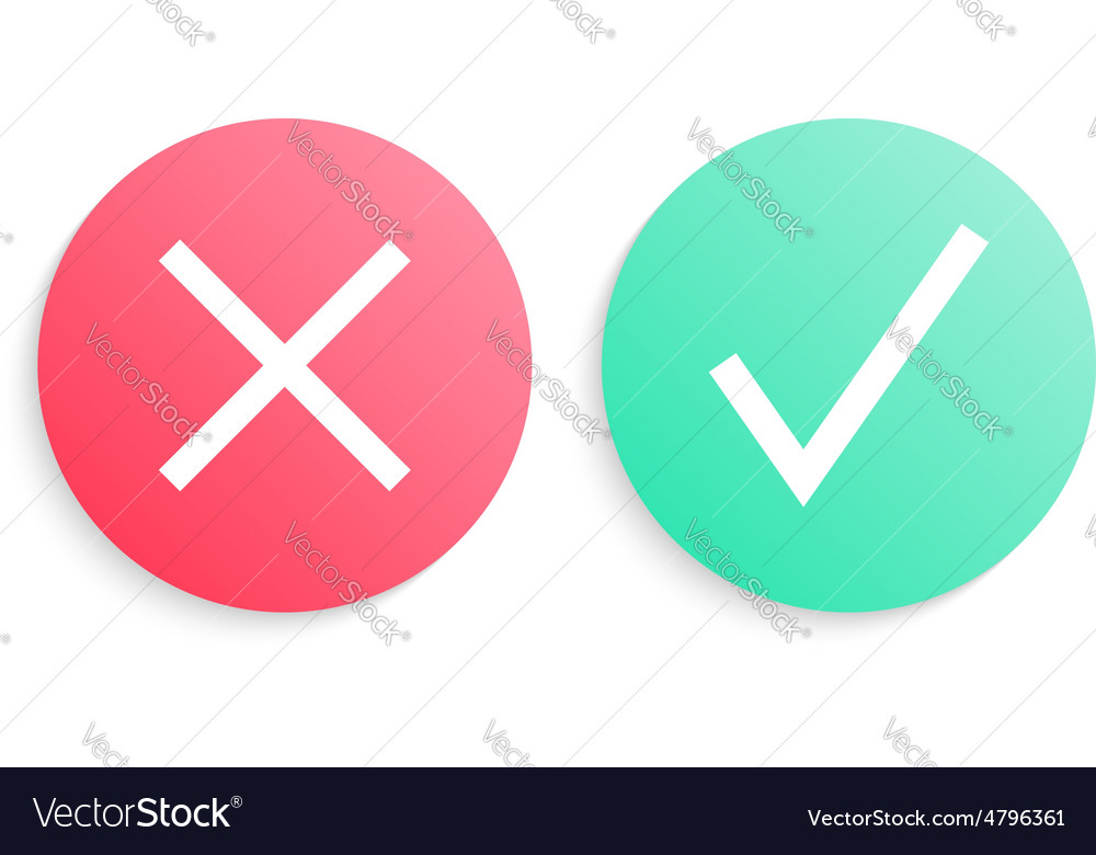 Check marks in gradient circles vector | Price: 1 Credit (USD $1)