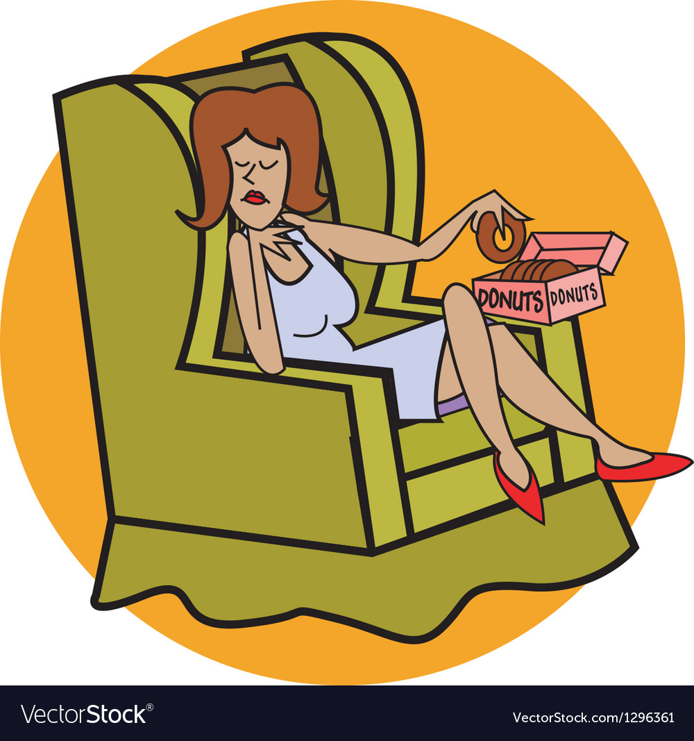 Couch potato vector | Price: 1 Credit (USD $1)