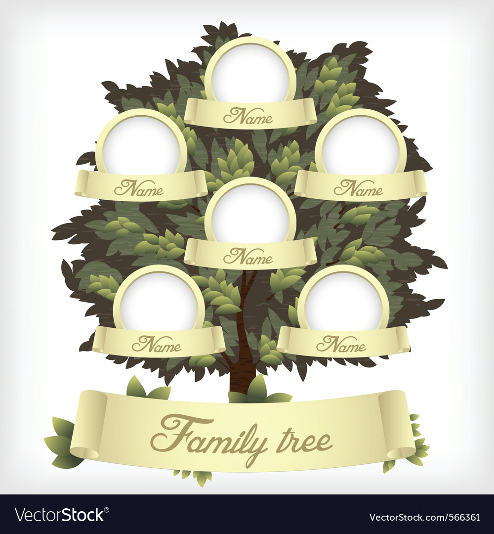 Family tree vector | Price: 3 Credit (USD $3)