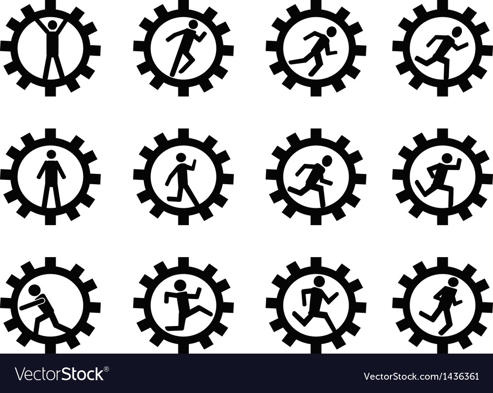 Gear man symbol vector | Price: 1 Credit (USD $1)