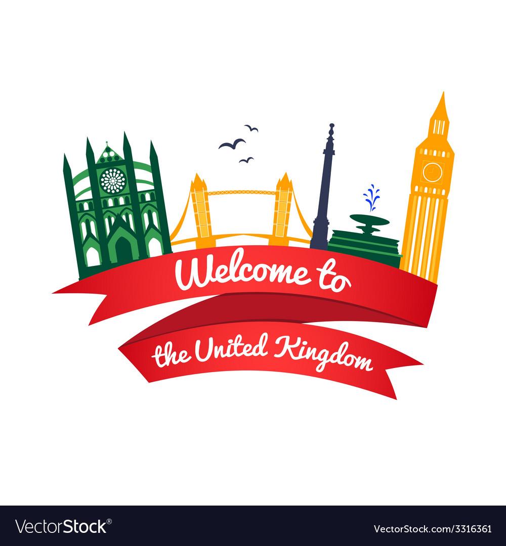 Logo landmarks of united kingdom vector | Price: 1 Credit (USD $1)