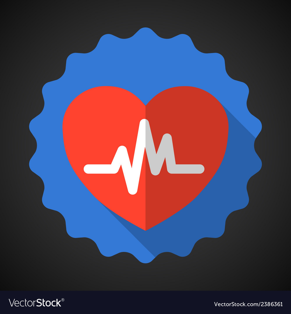 Medical heart flat icon vector | Price: 1 Credit (USD $1)