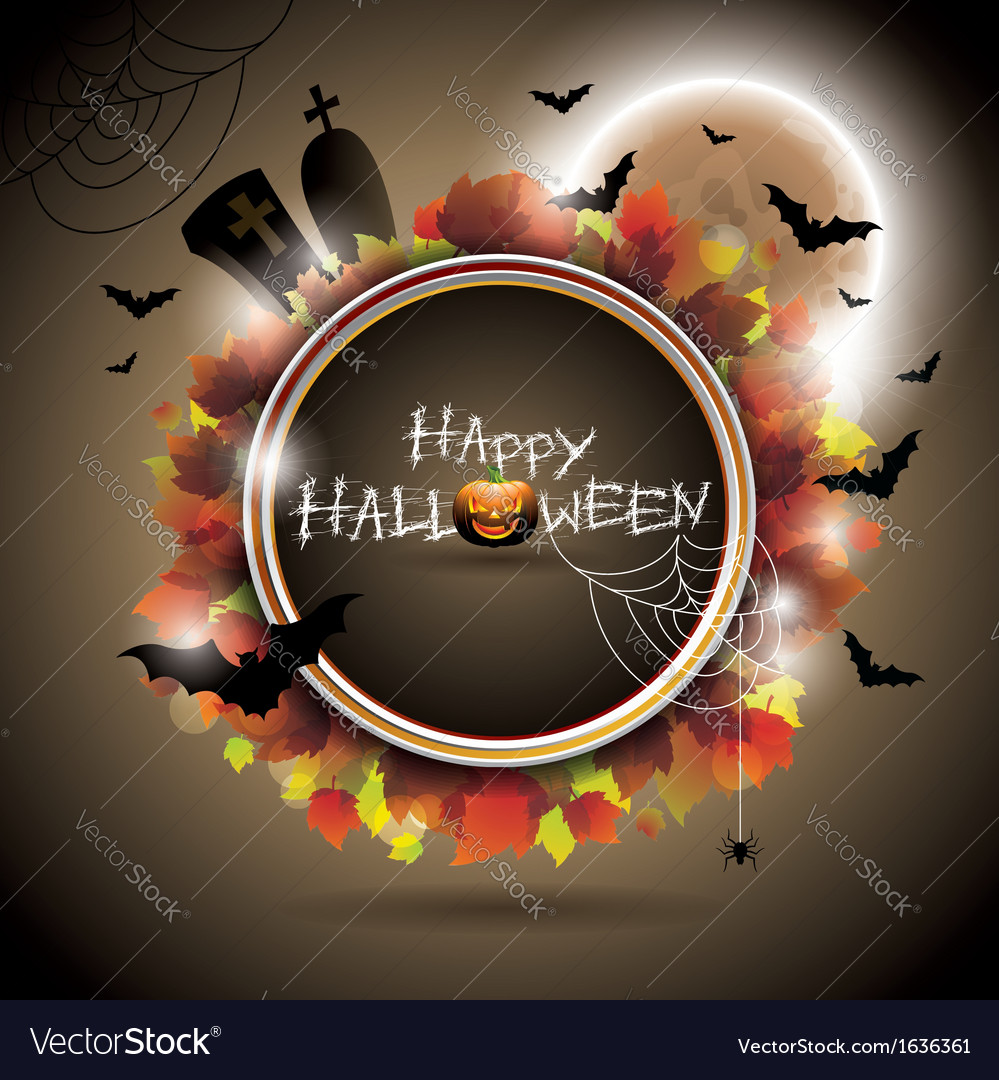 On a halloween theme with moon vector | Price: 1 Credit (USD $1)