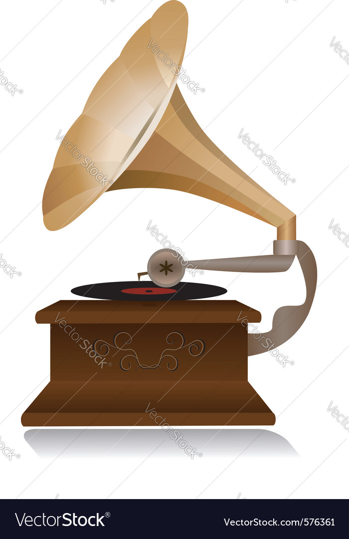Retro gramophone vector | Price: 1 Credit (USD $1)