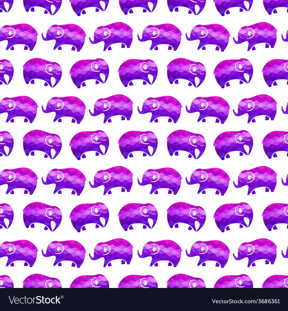 Seamless pattern with elephants vector   Price: 1 Credit (USD $1)