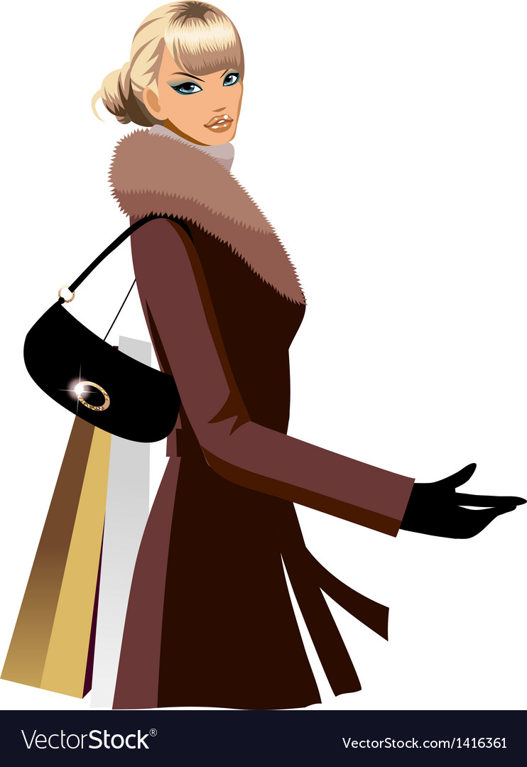 Winter shopping vector | Price: 3 Credit (USD $3)
