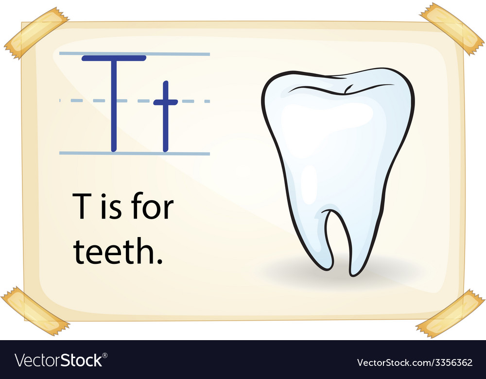 A letter t for tooth vector | Price: 3 Credit (USD $3)