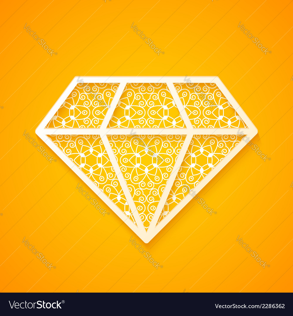 Abstract diamond silhouette vector | Price: 1 Credit (USD $1)