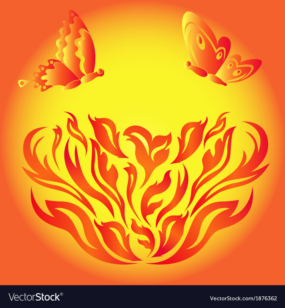 Fire flower vector | Price: 1 Credit (USD $1)