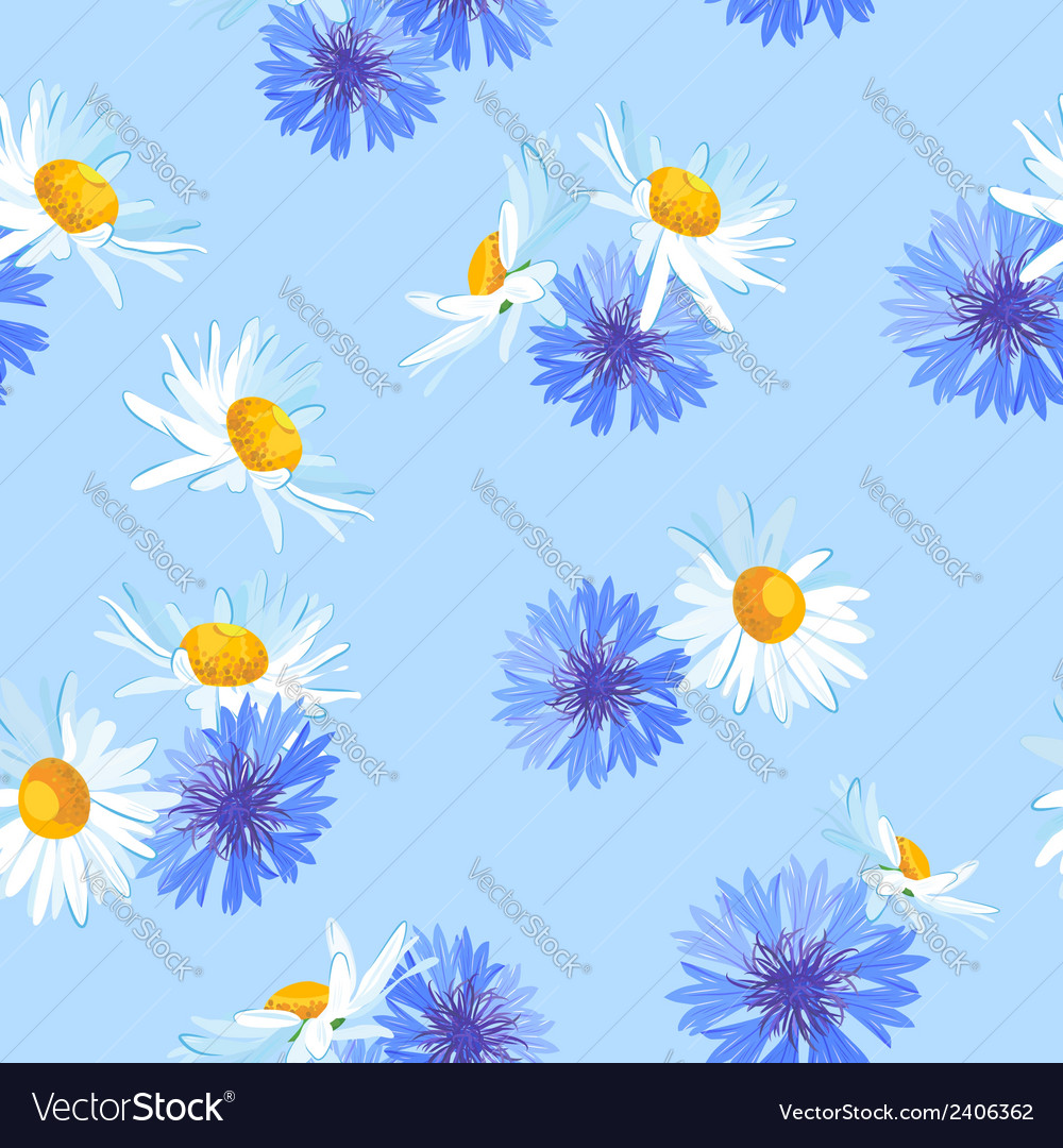 Hand drawn flowers seamless pattern vector | Price: 1 Credit (USD $1)