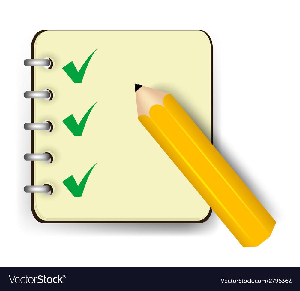 Notebook icon vector | Price: 1 Credit (USD $1)