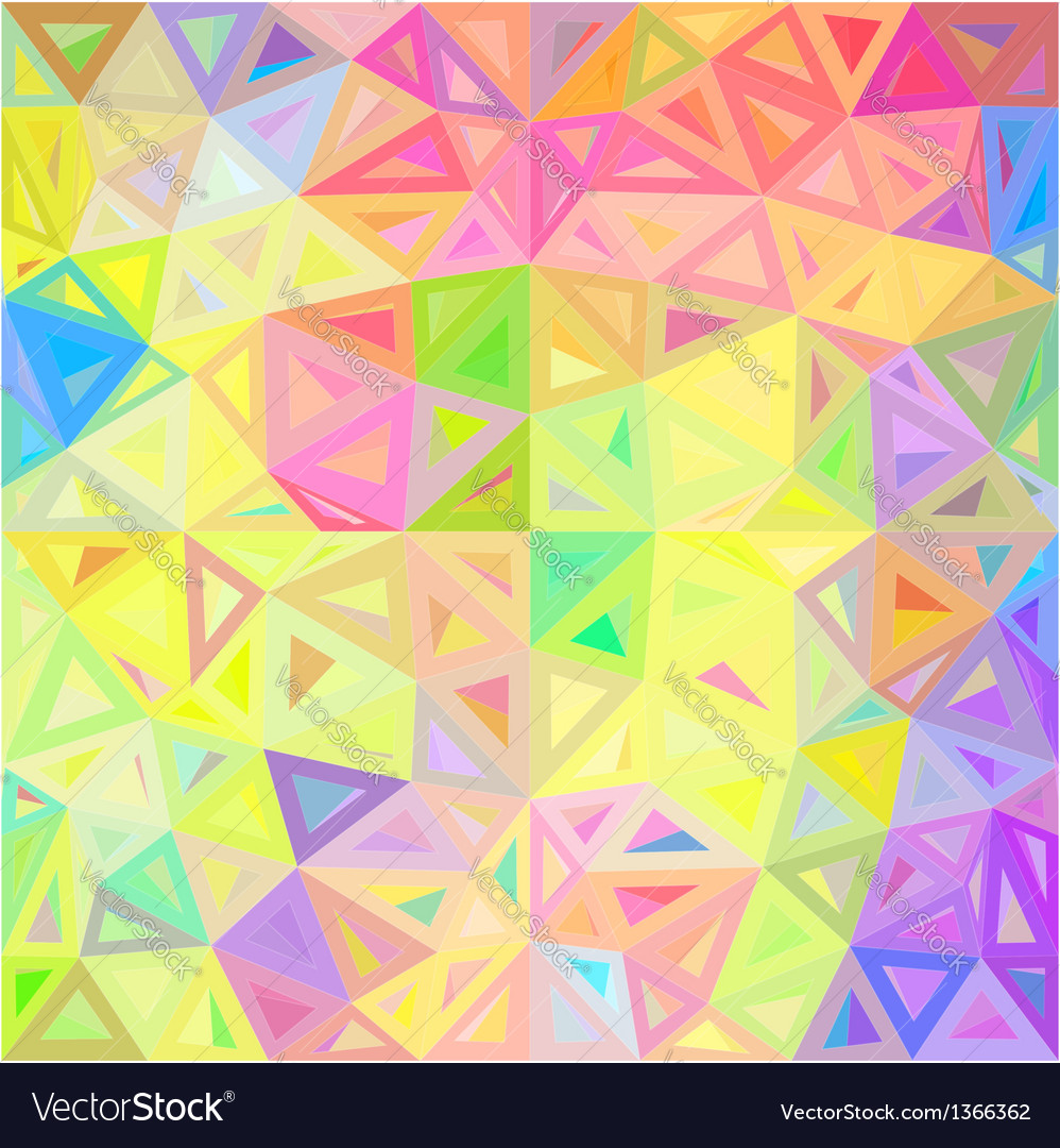 Pastel colors abstract triangles background vector | Price: 1 Credit (USD $1)