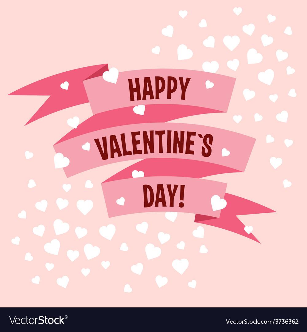 Valentines day ribbon label vector | Price: 1 Credit (USD $1)