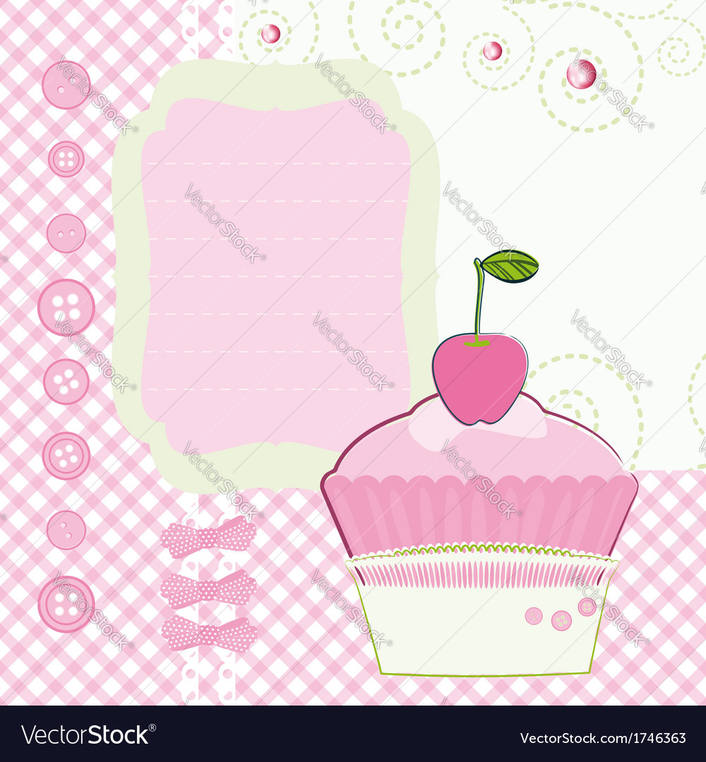 Background with cartoon cake mothers day vector | Price: 1 Credit (USD $1)