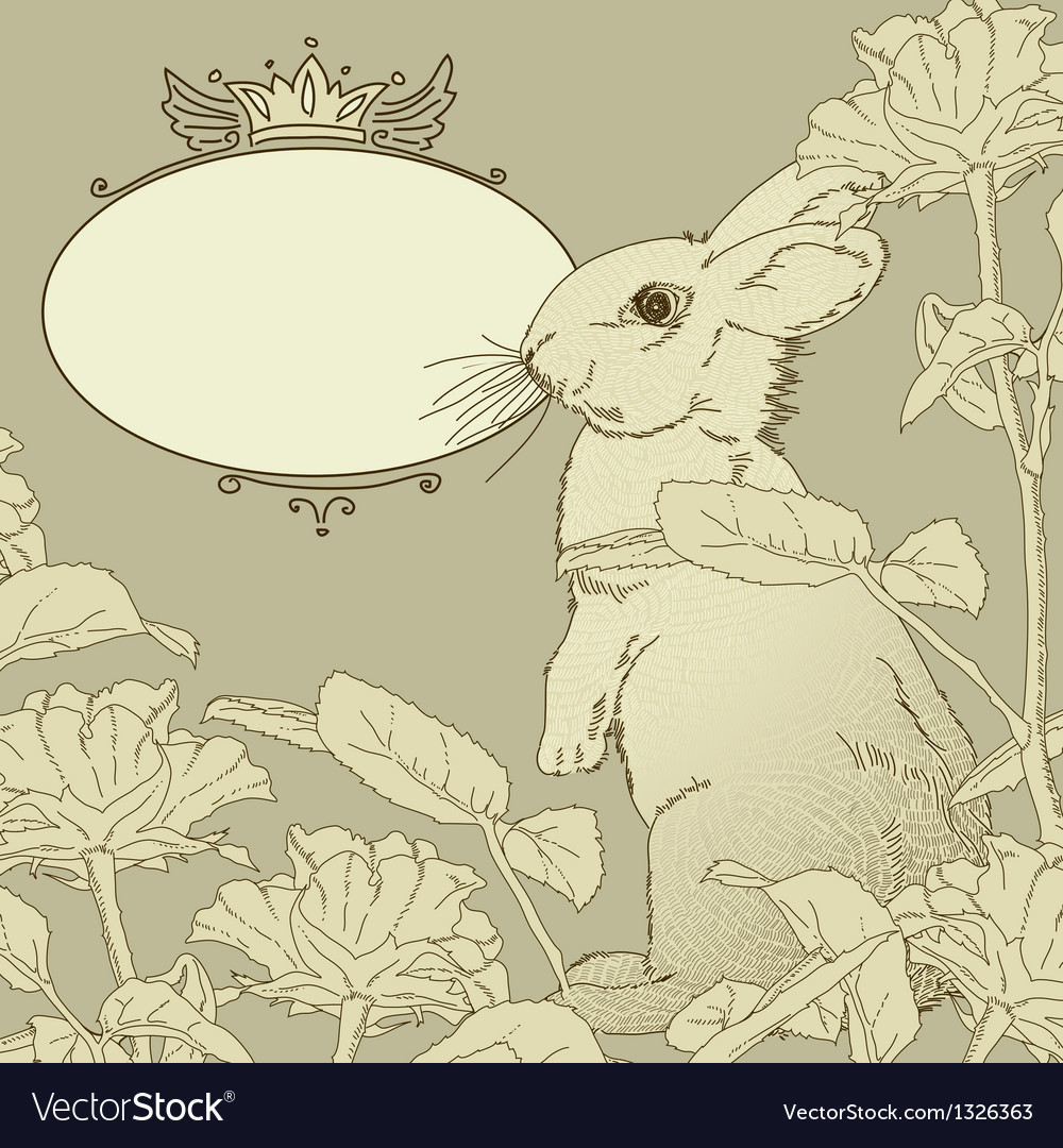 Background with rabbit vector | Price: 1 Credit (USD $1)