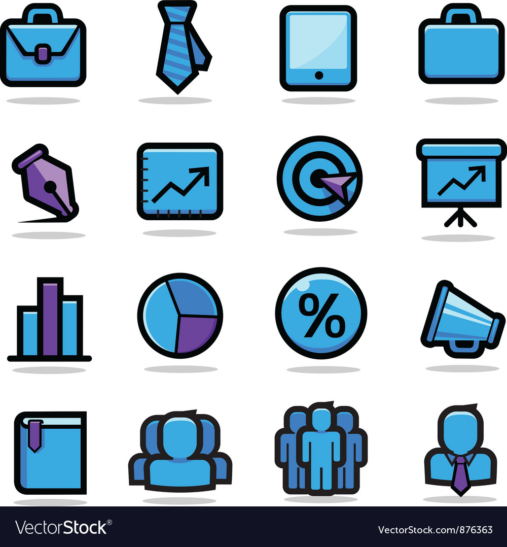 Business icons set vector | Price: 3 Credit (USD $3)