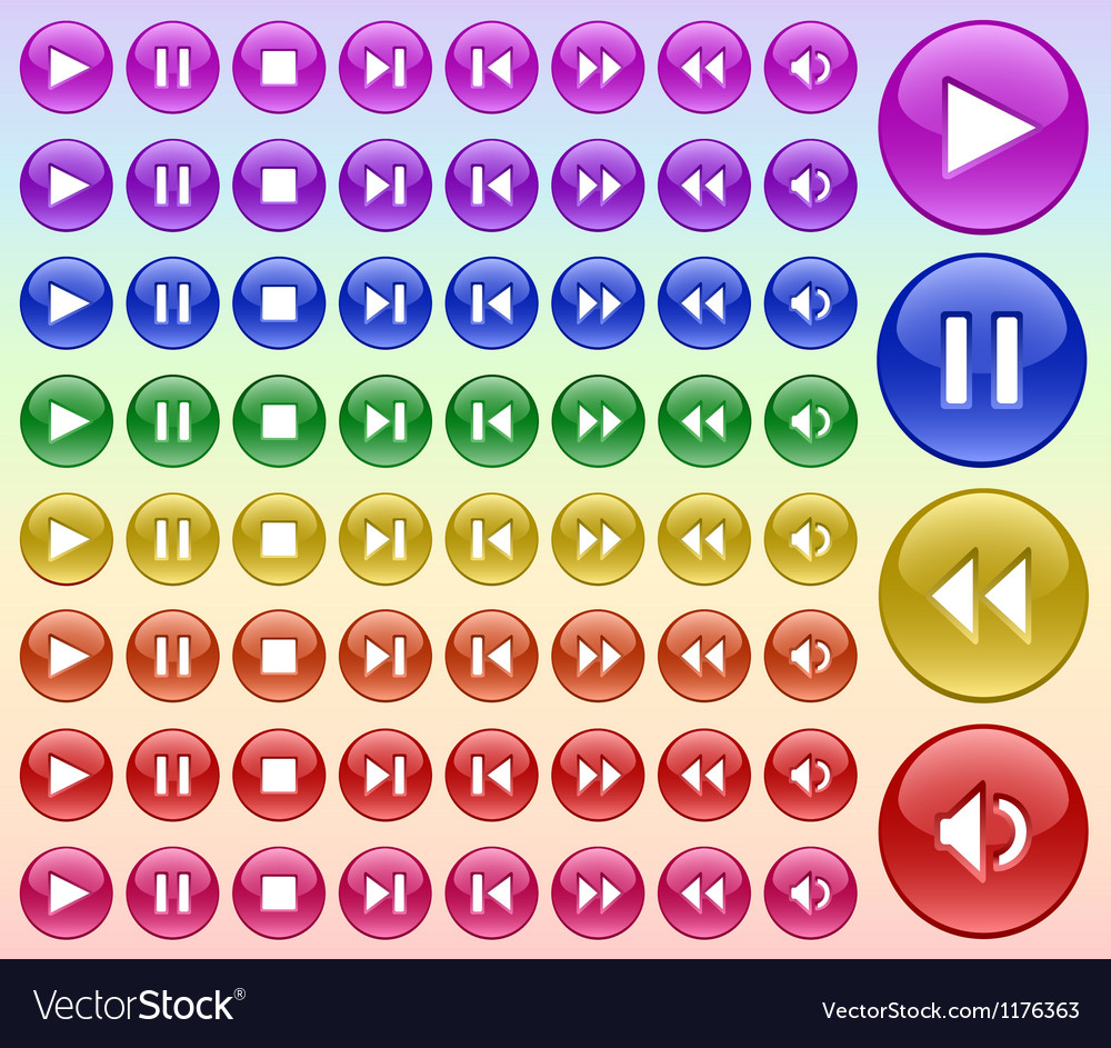 Buttons for player vector | Price: 1 Credit (USD $1)