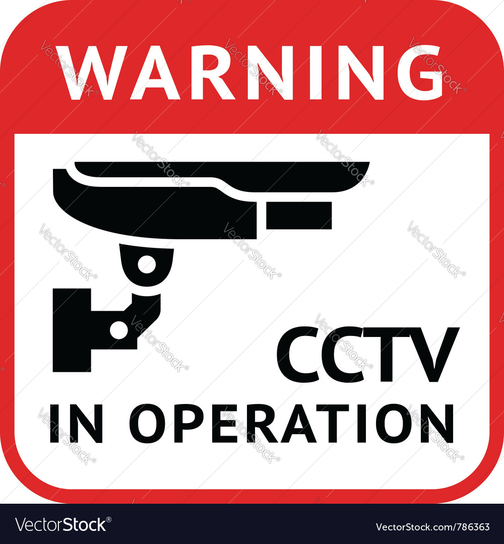 Cctv pictogram security camera vector | Price: 1 Credit (USD $1)